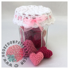 Free Crochet Hearts Pattern - Jar of Hearts