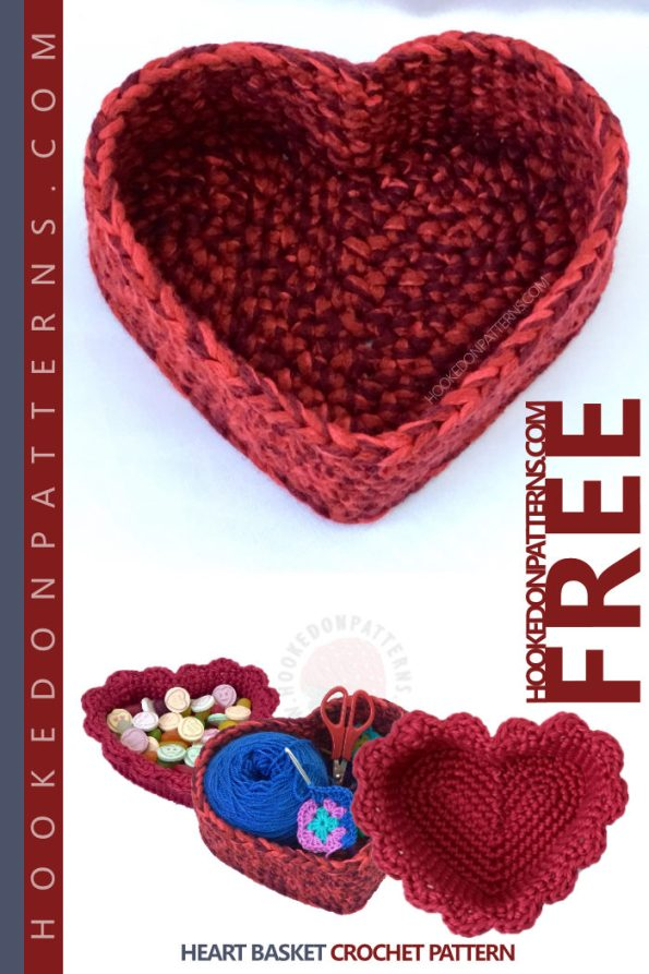 Free Crochet Basket Pattern Hooked On Patterns