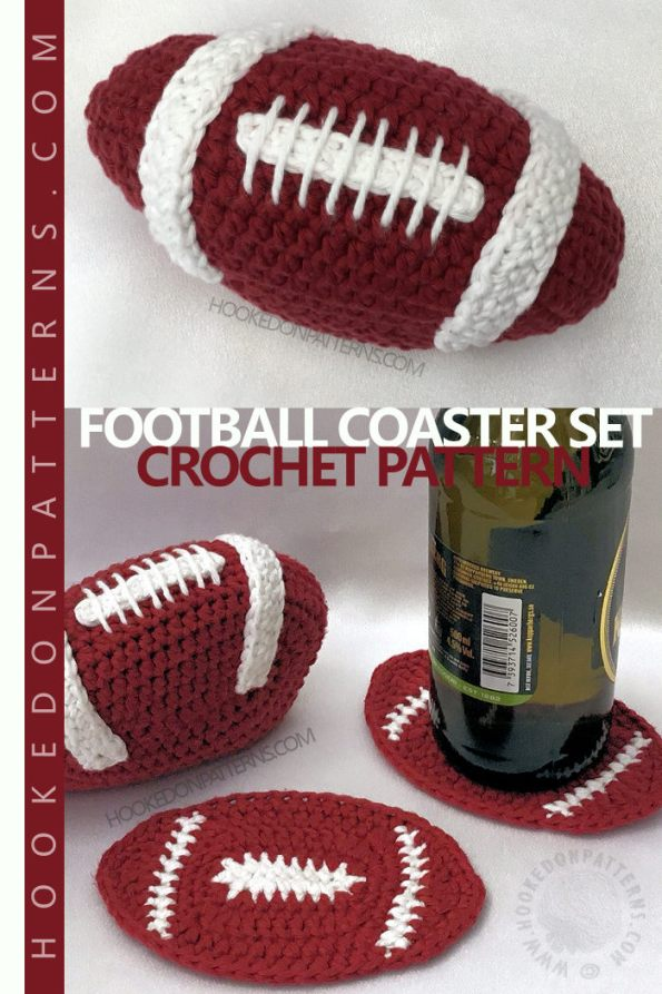 American Football Coaster Set Crochet Pattern