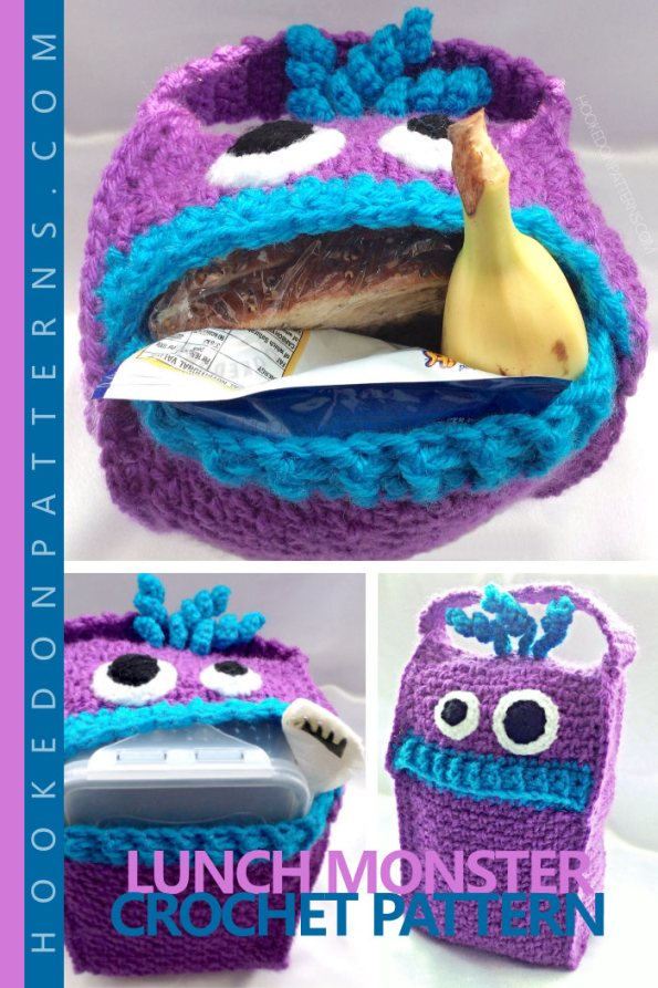 Lunch Monster Crochet Pattern from Hooked On Patterns