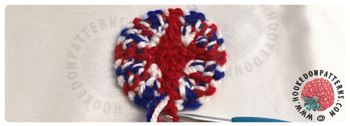 Union Jack Mini Top Hat Crochet Pattern from Hooked On Patterns