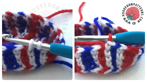 Union Jack Top Hat Crochet Pattern colour changes