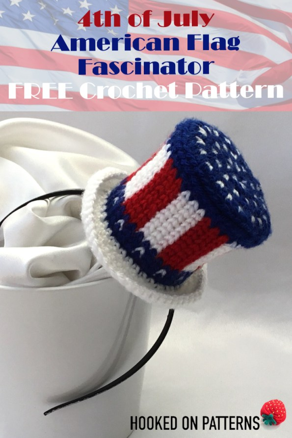 Free 4th of July Crochet Pattern - American Flag Mini Hat
