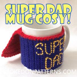 Free Fathers Day Crochet Pattern - Free Crochet Patterns Mug Cosy