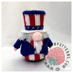 Independence Day Uncle Sam Gonk Outfit Free Crochet Pattern
