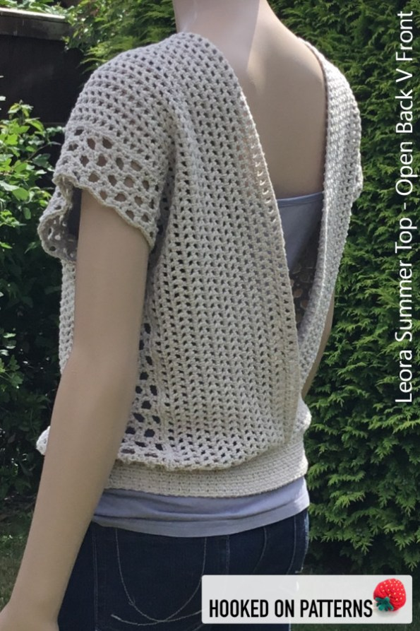 Crochet Summer Top Pattern - Versatile Vest -Leora Summer Top Crochet Pattern - Multiple Style Options - Open Back V Front #CrochetPattern #CrochetToWear #Crochet