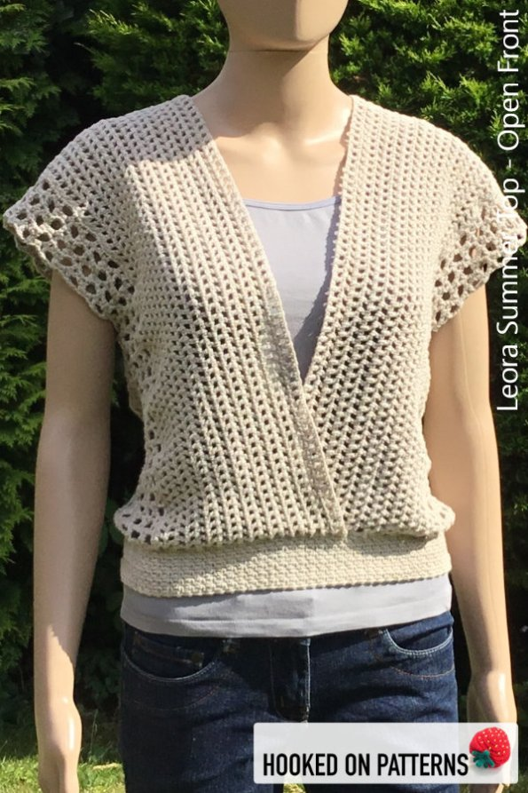 Crochet Summer Top Pattern - Versatile Vest -Leora Summer Top Crochet Pattern - Multiple Style Options - Open Front #CrochetPattern #CrochetToWear #Crochet
