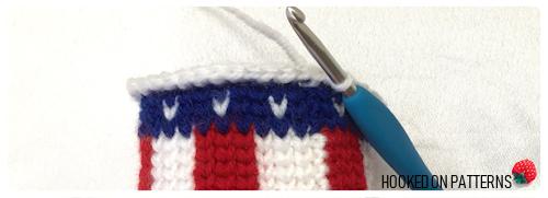 Free 4th of July American Flag Mini Hat Crochet Pattern