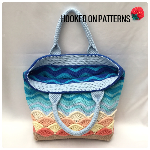 Beach Bag Crochet Pattern Sea Shells Hooked On Patterns