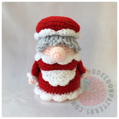 Christmas Eve Gonk Crochet Pattern by Hooked On Patterns front facing image