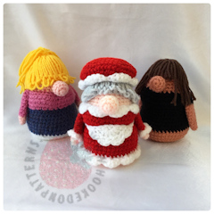 Christmas Eve Gonk Crochet Pattern by Hooked On Patterns showing adaptation options image