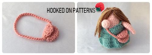 Vacation Gonk crochet pattern image of the crochet handbag