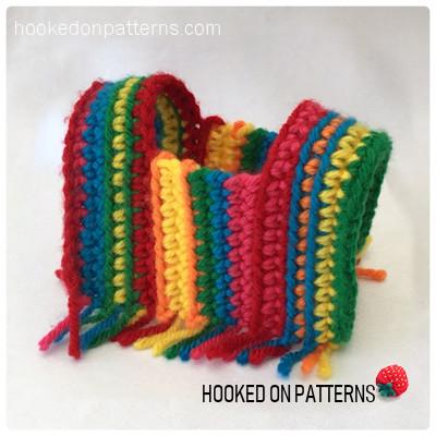 Mini Striped Poncho Doll Clothes Crochet Pattern