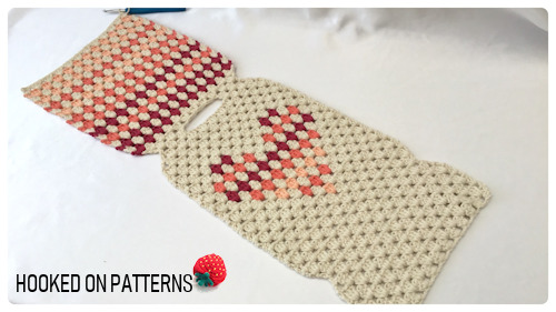 Free Hot Water Bottle Cover Granny Heart Crochet Pattern Back