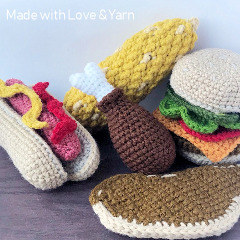 BBQ Play Food Free Crochet Pattern