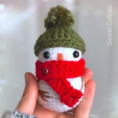 Free Baby Snowman Crochet Pattern