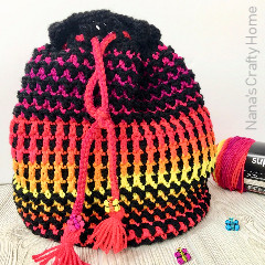 Butterfly Wings Bucket Bag Crochet Pattern