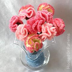 Free Carnation Flowers Crochet Pattern