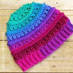 Free Criss Cross Beanie Crochet Pattern