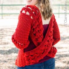 Cross Back Cardigan Crochet Pattern