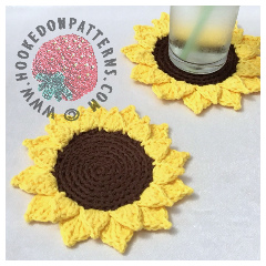 Free Sunflower Coasters Crochet Pattern