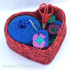 Heart WIP Basket Crochet Pattern