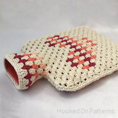 Free Granny Heart Hot Water Bottle Cover Crochet Pattern