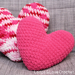 Heart Pillow Free Crochet Pattern