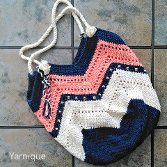 Not Your Granny Beach Bag Crochet Pattern