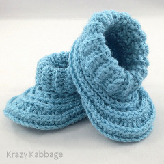Ribbed Baby Booties Crochet Pattern