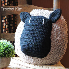 Sheep Pillow Crochet Pattern