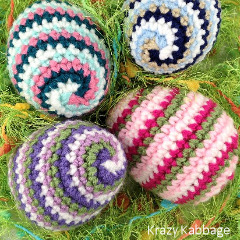 Spiral Easter Egg Crochet Pattern
