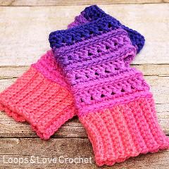 Free Criss Cross Fingerless Gloves Crochet Pattern