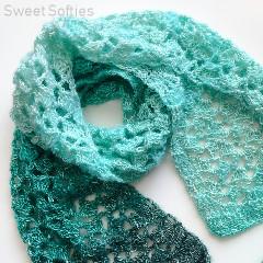 Jade Pool Scarf Free Crochet Pattern