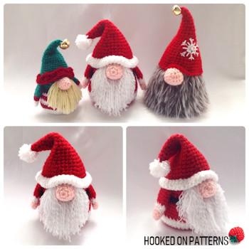 Santa Gonk Crochet Pattern Hooked On Patterns