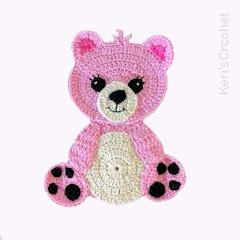 Teddy Bear Applique Free Crochet Pattern