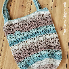 Beach Blossoms Market Bag Free Crochet Pattern