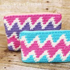 Zig Zag Zipper Pouch Crochet Pattern