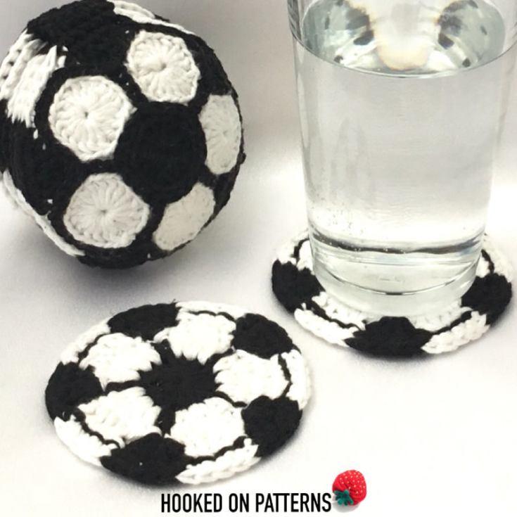 Soccer Ball Coaster Set Crochet Pattern