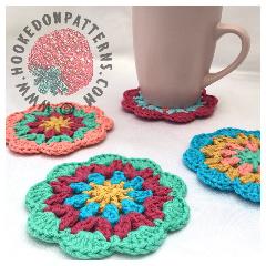 Free Mandala Coasters Crochet Pattern