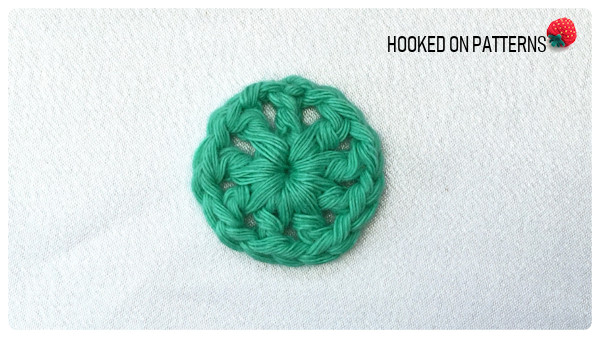 Happy Scrappy Coasters Free Crochet Pattern Round 1