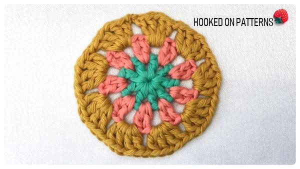 Mandala Coasters Free Crochet Pattern Round 3