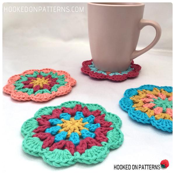 Happy Scrappy Coasters Free Crochet Pattern