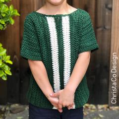 Kids Racing Tee Free Crochet Pattern