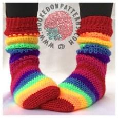 Laticia Slouchy Socks Crochet Pattern