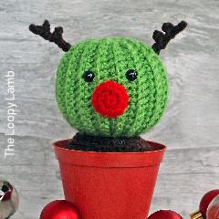 Randy the Reindeer Cactus Crochet Pattern