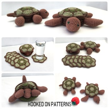 Turtle Coaster Set Crochet Pattern