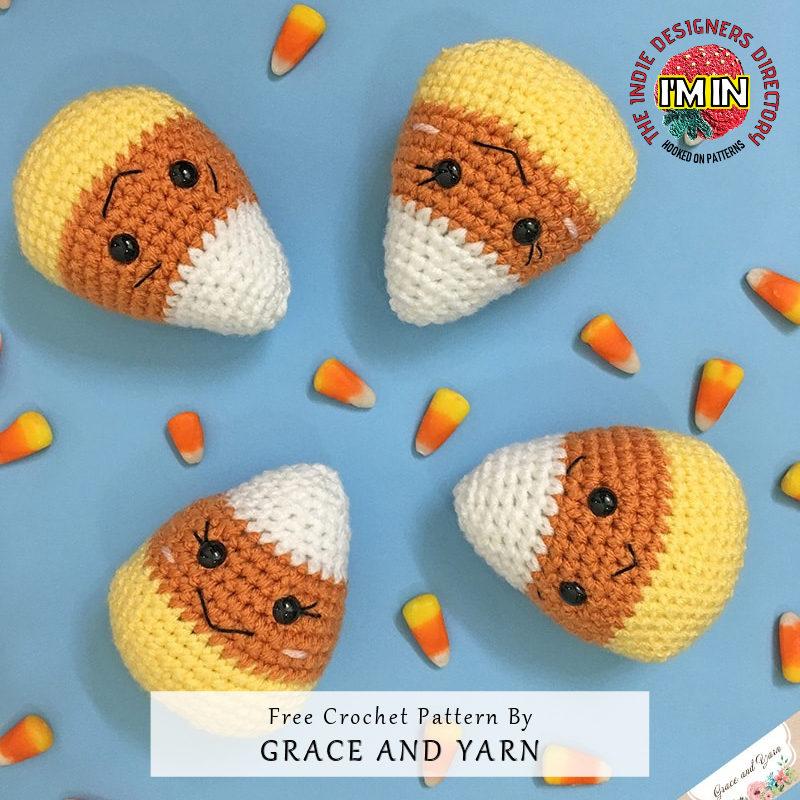 Amigurumi Candy Corn Halloween Free Crochet Pattern