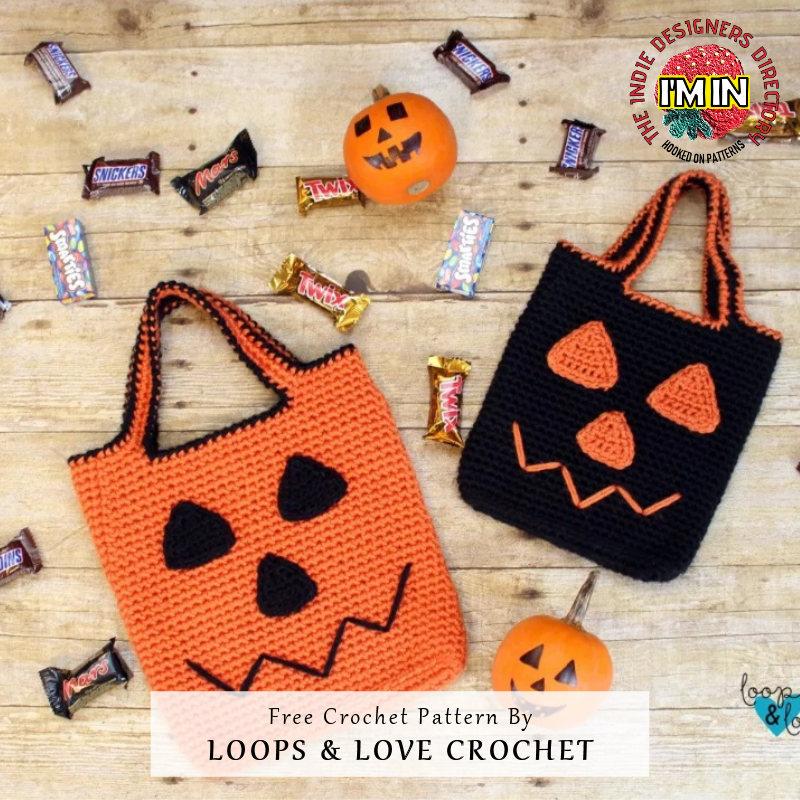 Halloween Bag Free Crochet Pattern - Trick Treat