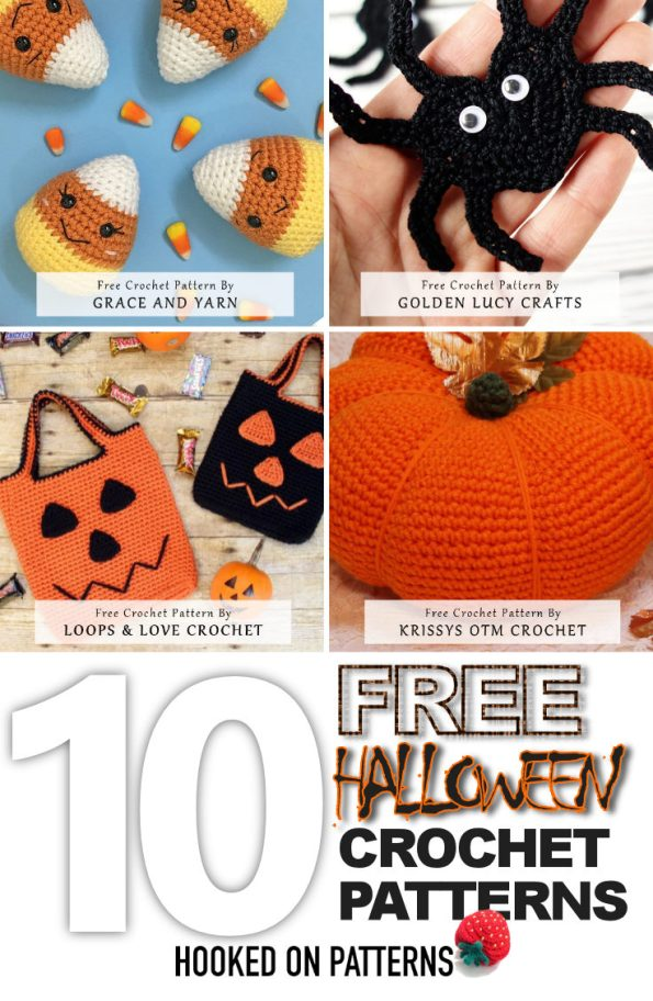 Free Halloween Crochet Patterns Pin